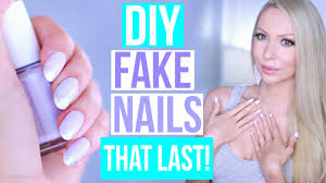 diy easy fake nails that last three weeks no acrylic youtube
