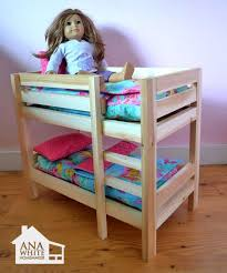 Dolls Bunk Beds Uk White Build A Doll Closet For American Or 18 Doll