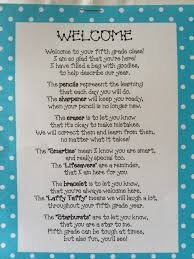 mrs o knows welcome back poem filled with goodies