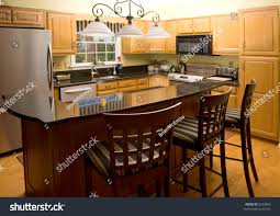 highend luxury modern kitchen granite counter stock photo 6103843