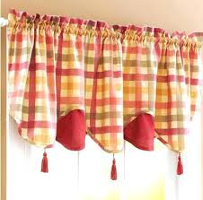 orange and red curtains orange curtain valance red green yellow