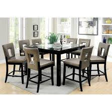 Counter Height Dining Room Sets Black Counter Height Dining Table And Chairs