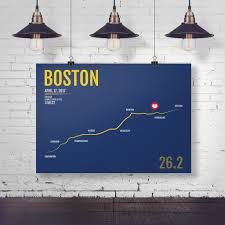 New York Marathon Map by Boston Marathon Map Print Gifts And Gear Free Shipping U0026 20