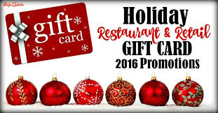 restaurant gift card deals 2016 restaurant retail gift card promotions hip2save
