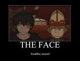 Soul Eater Excalibur Meme - excalibur face in avatar the last airbender excalibur face know
