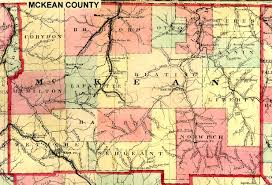 Pennsylvania Counties Map by Mckean County Pennsylvania Maps And Gazetteers