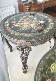 Repainting Wrought Iron Furniture by Buy Forged Table Dark Gray Forged Table Wrought Iron Furniture