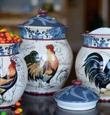 rooster kitchen canisters fitz and floyd ricamo canisters set of 3 canisters
