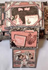Accordion Photo Album Boxed Accordion Pocket Mini Album Featuring Graphic 45 Mon Amour