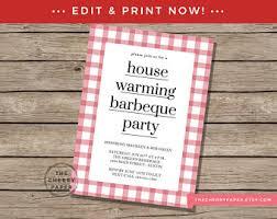 housewarming bbq invitation etsy