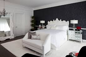 Mirrored Furniture For Bedroom by Loveseat Covers In Bedroom Transitional With Floor Mirror Next To