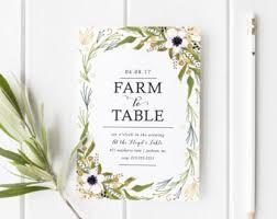 farm to table dinner farm to table dinner invitation printable invitation rustic