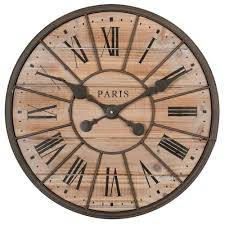 northwood metal and wood clock d 50cm maisons du monde