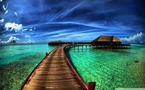 bungalows on the ocean hd desktop wallpaper widescreen high