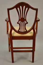 antique mahogany dining room chairs small vintage size shield