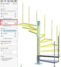 solidworks linear pattern solidworks 2018 faster spiral staircase design rotate instances