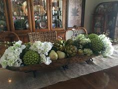 kitchen island centerpiece another fabulous book club artichokes dough bowl and centerpieces