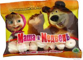 marshmallow masha medved llc masha bear 40g sachet