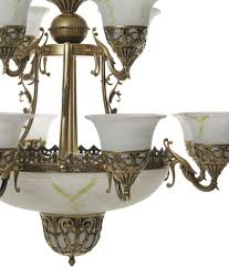 Chandelier India by Aesthetichs White And Gold Aluminium Portuguese Style Antique