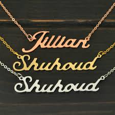 Custom Made Name Necklace Personalized Name Necklace U2013 Love Tropical