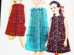girls dress pattern size 8 sleeveless a line dress vintage