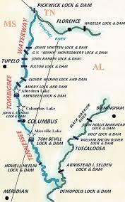 tombigbee waterway map tenn tom crappie way mississippi sportsman content la