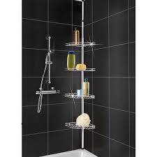 bathroom metal chrome corner shower caddy for exciting bathroom