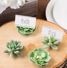 place card holders 100pcs lot design green succulent place card holders table