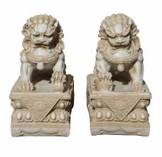 images of foo dogs pair white marble like fengshui foo dogs cs1289s