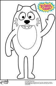 yo gabba gabba muno coloring pages coloring pages