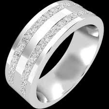 mens double rings images Double row diamond set mens ring in 18ct white gold pdwg089w png