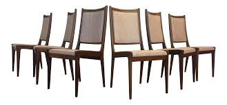 karl erik ekselius for joc rosewood dining chairs set of 6 chairish