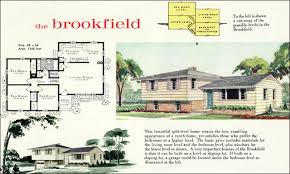 tri level home 1960 modern style tri level home plan the brookfield liberty