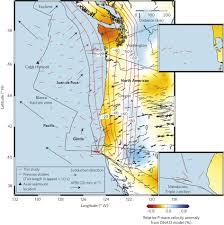 physical map of oregon juan de fuca plate mantle flow geometry from ridge to trench beneath the gorda juan