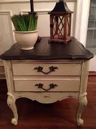 distressed white side table vanity best painted end tables products on wanelo bedroom pinterest