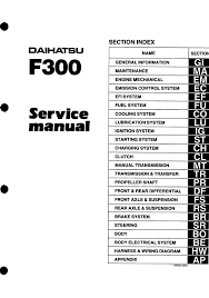 daihatsu feroza daihatsu feroza sportrak workshop manual pdf