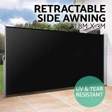 Retractable Awnings Ebay 1 8x3m Retractable Side Awning Shade Home Patio Garden Terrace