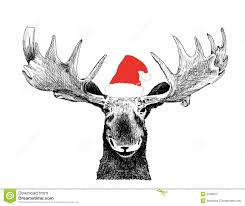 new year u0027s funny moose royalty free stock images image 21189679