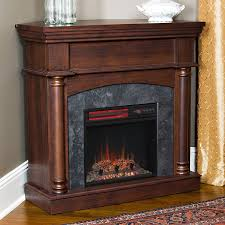 Infrared Electric Fireplaces by Wexford Wall Or Corner Infrared Electric Fireplace In Brown Cherry