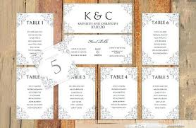 wedding seat chart template wedding table seating chart template