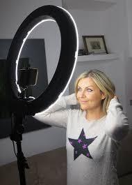 best led ring light amazon com socialite 18 led dimmable photo video ring light kit