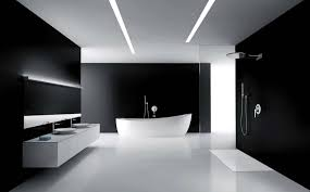 Black White Bathroom Ideas Colors Black And White Bathroom Tile Floor Black White Glossy Finished