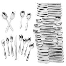 barnaby 110 pc stainless flatware set large sets