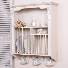 ivory wall cabinet plate rack shabby chic kitchen