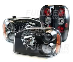 nissan frontier halo headlights black clear lens headlights u0026 black tail lights for nissan