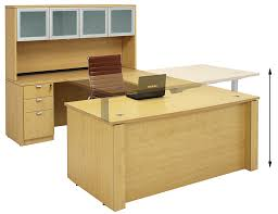 u shaped executive desk adjustable height u shaped executive office desk w hutch in maple
