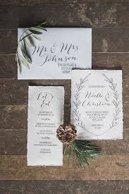 christmas wedding invitations picture of neutral wedding invites with a edge and simple