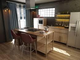 modern kitchen design 3d design cgtrader