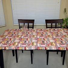 stay put table covers custom fitted vintage dinertablecloth stay put table cover for any