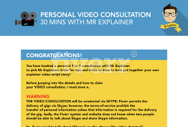 give you my own personal video script explainer template and